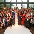 Photo du mariage de Katrina Patchett avec Valentin D'Hoore le 1er septembre 2017 dans l'orangerie du château de Biez en Belgique © Philippe Doignon/bestimage