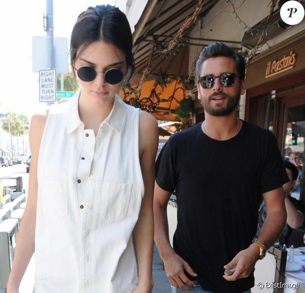 Kendall Jenner et Scott Disick sont allés déjeuner au restaurant Il Pastaio à Beverly Hills, le 2 juillet 2016