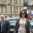 Angelina Jolie arrive à la maison Guerlain sur les Champs-Elysées à Paris le 30 janvier 2018.  Angelina Jolie arrives at Guerlain HQ on Champs Elysees avenue in Paris on january 30th 201830/01/2018 - Paris