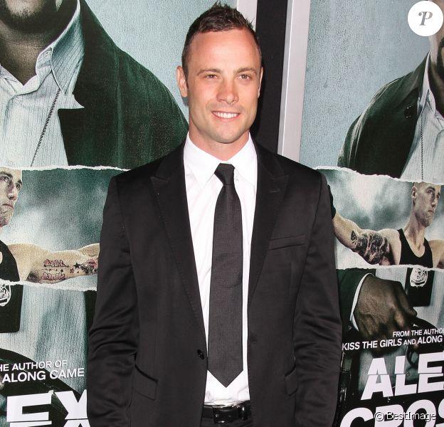 """Oscar Pistorius - Première du film """"Alex Cross"""" au cinéma Arclight à Hollywood. Le 15 octobre 2012."""
