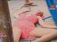 Mathilde (Friends Trip 4) paniquée face à un cafard cuit : Elle s'évanouit !