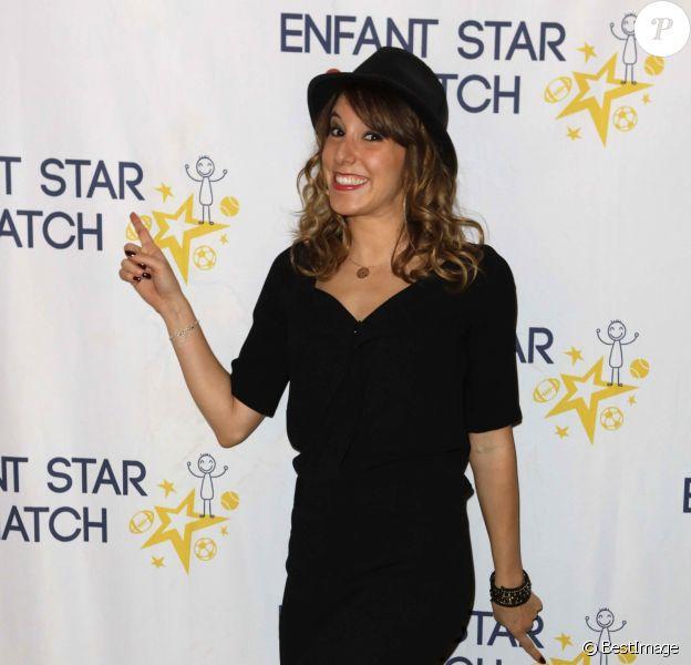 """Léa François lors du dîner de gala de l'association """"Enfant Star & Match"""" à l'hôtel Carlton à Cannes."""