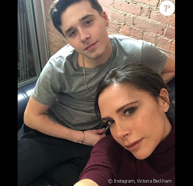 Brooklyn et Victoria Beckham à New York. Février 2018.