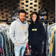 David et Elvis Guetta sur une photo publiée le 10 février 2018 pour l'anniversaire du fils du DJ (né le 9 février).