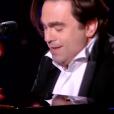 """Le comédien Frédéric Longbois dans """"The Voice 7"""" sur TF1, le 3 février 2018."""