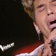 """Zine Yaala dans """"The Voice 7"""" sur TF1, le 17 février 2018."""