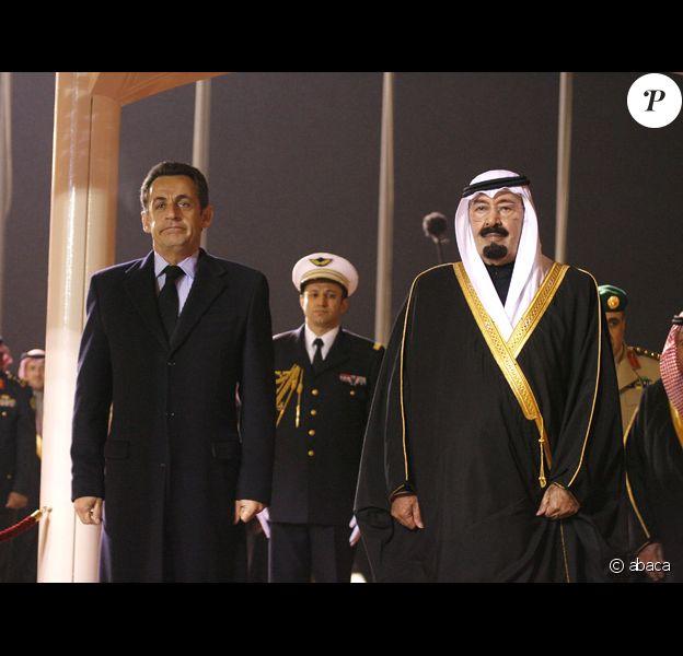 Nicolas Sarkozy en arabie sans Carla Bruni