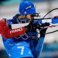 Martin Fourcade s'offre sa cinquième médaille d'or lors du relais mixte de biathlon à PyeongChang en Corée du Sud, le 20 février 2018.