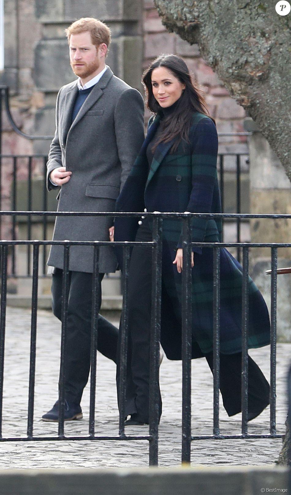 Le prince Harry et sa fiancée Meghan Markle à Edimbourg le 13 février 2018.