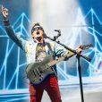 Matthew Bellamy - Le groupe Muse en concert lors du festival de Leeds le 27 aout 2017.