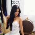 La belle Ayem Nour en lingerie le 27 février 2018.