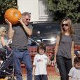 Harrison Ford et Calista Flockhart et leur fils Liam en Octobre 2006
