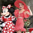 Minnie Mouse, Katy Perry - Minnie Mouse reçoit son étoile sur le Walk of Fame au théâtre El Capitan à Hollywood, le 22 janvier 2018.