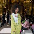 """Tina Kunakey - Défilé de mode prêt à porter Automne Hiver 2018/2019 """"Stella McCartney"""" à l'Opéra Garnier. Paris, le 5 mars 2018. © Olivier Borde / Bestimage"""