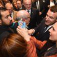 Emmanuel Macron - 33ème dîner du Crif (Conseil Representatif des Institutions juives de France) au Carrousel du Louvre à Paris, France, le 7 mars 2018. © Erez Lichtfeld / Bestimage