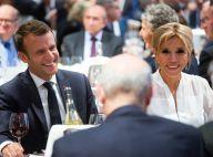 Brigitte et Emmanuel Macron, radieux pour leur premier dîner du CRIF