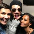 Karine Le Marchand, Cristina Corudla et JoeyStarr - Concert de Suprême NTM (Joeystarr et Kool Shen) à L'AccorHotels Arena à Paris le 10 mars 2018.