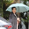 """Kris Jenner - Les célébrités arrivent à la """"Baby shower"""" de K. Kardashian, enceinte, à l'hôtel Bel Air de Beverly Hills le 10 mars 2018."""