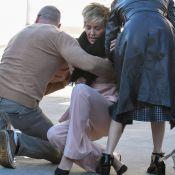 Sharon Stone : Chic en balade, elle chute brutalement sur ses talons !