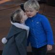 La princesse Gabriella et le prince héréditaire Jacques de Monaco, photo parue le 10 février 2018 sur le compte Instagram de la princesse Charlene.