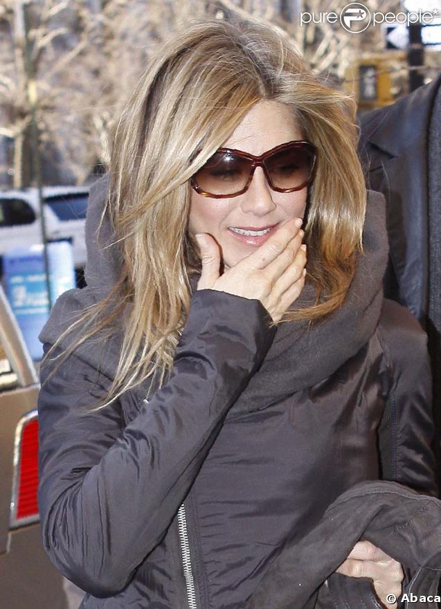 Jennifer Aniston à New York le 24 mars 2009