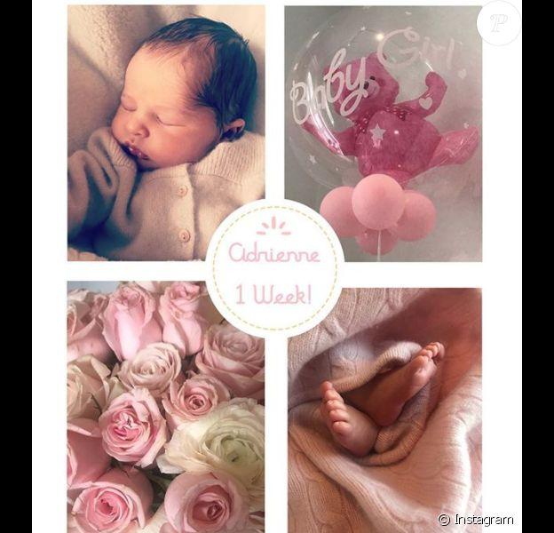 La princesse Madeleine de Suède a profité le 16 mars 2018 de la première semaine depuis la naissance de sa fille la princesse Adrienne pour partager de nouvelles images de bébé, sur son compte Instagram.