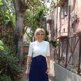 """La Première Dame Brigitte Macron (Trogneux) - La Première Dame française visite du """"Street Art"""" dans le quartier de Lodi Colony à New Delhi, Inde, le 11 mars 2018."""