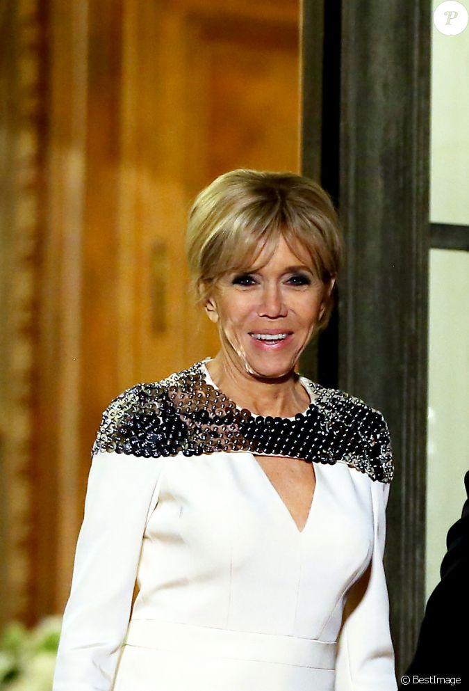 brigitte macron le grand duc et la grande duchesse de luxembourg assistent au d ner d 39 etat. Black Bedroom Furniture Sets. Home Design Ideas