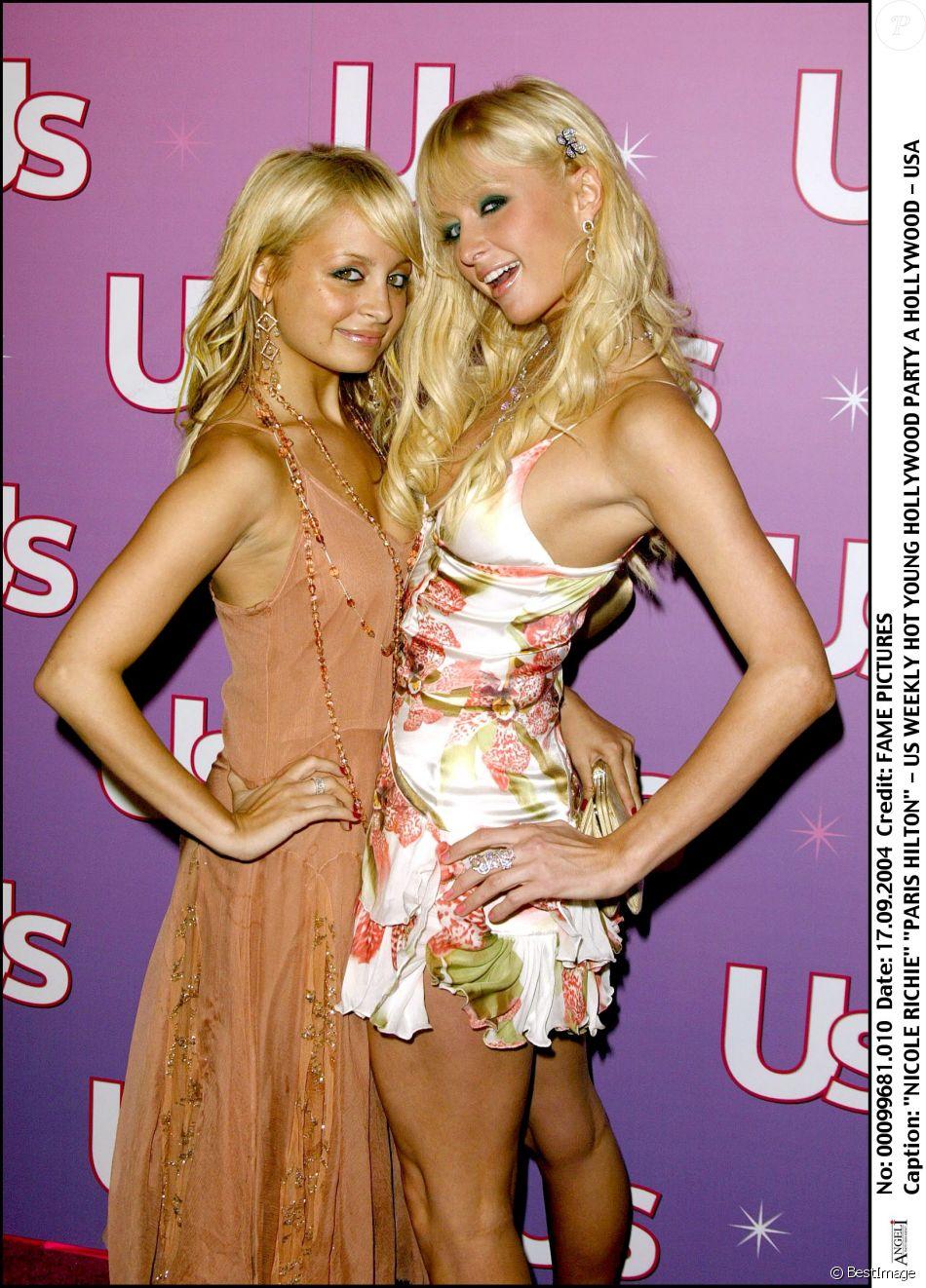 Nicole Richie et Paris Hilton à une soirée hollywoodienne en septembre 2004