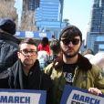Les célébrités et des centaines de milliers de manifestants protestent contre les armes à feu (March For Our Lives) à New York, le 24 mars 2018 © Sonia Moskowitz/Globe Photos via Zuma/Bestimage24/03/2018 - New York