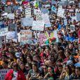 Les familles des victimes de Marjory Stoneman Douglas protestent contre les armes à feu (March For Our Lives) à Parkland, le 24 mars 2018