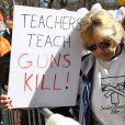 Atmosphère - Les célébrités et des centaines de milliers de manifestants protestent contre les armes à feu (March For Our Lives) à New York, le 24 mars 2018