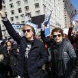 Paul McCartney et Billie Jean King - Les célébrités et des centaines de milliers de manifestants protestent contre les armes à feu (March For Our Lives) à New York, le 24 mars 2018