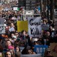 Des centaines de milliers de manifestants protestent contre les armes à feu (March For Our Lives) à New York le 24 mars 2018.