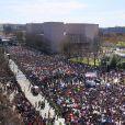 Des centaines de milliers de manifestants protestent contre les armes à feu (March For Our Lives) devant le Capitole à Washington D.C, le 24 mars 2018