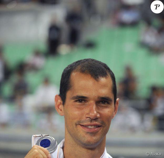 Romain Mesnil, vice-champion du monde et d'Europe de saut à la perche