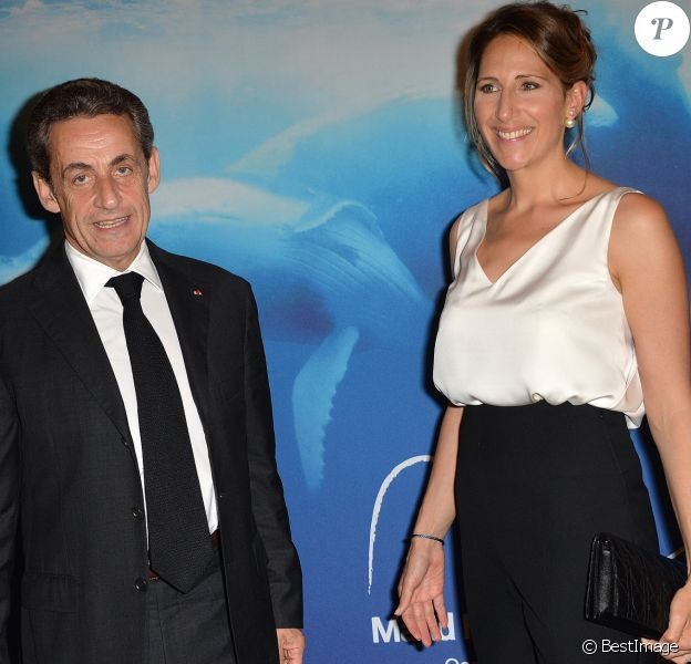 """Nicolas Sarkozy et Maud Fontenoy - Gala de charité annuel de la """"Maud Fontenoy Foundation"""" à l'hôtel Bristol à Paris, le 4 juin 2015."""