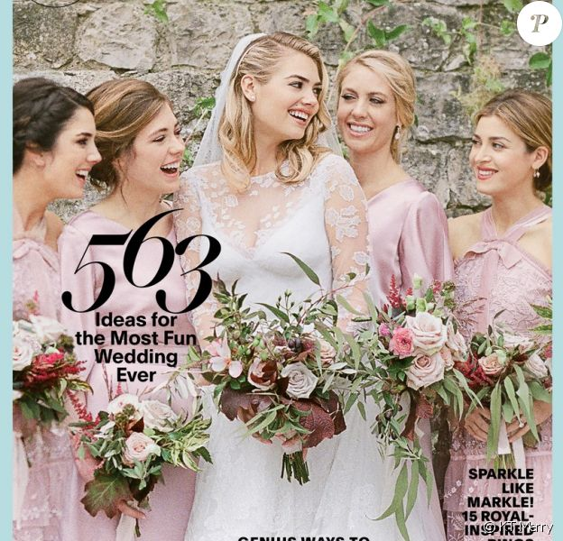 Kate Upton en couverture du magazine BRIDES. Photo par KT Merry.