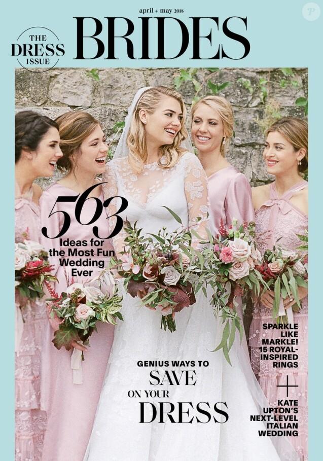 Kate Upton en couverture du magazine BRIDES. Photo par KT Merry.