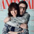 """Charlotte Gainsbourg et Yvan Attal en couverture du magazine """"Vanity Fair"""", numéro d'avril 2018."""