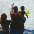 Teddy Riner en vacances avec sa compagne  Luthna et leur fils Eden.