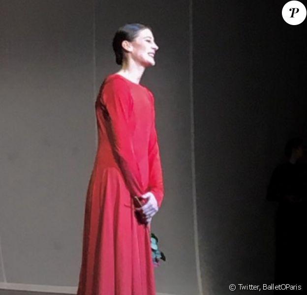 Adieux de Marie-Agnès Gillot à L'Opéra de Paris, le 31 mars 2018.
