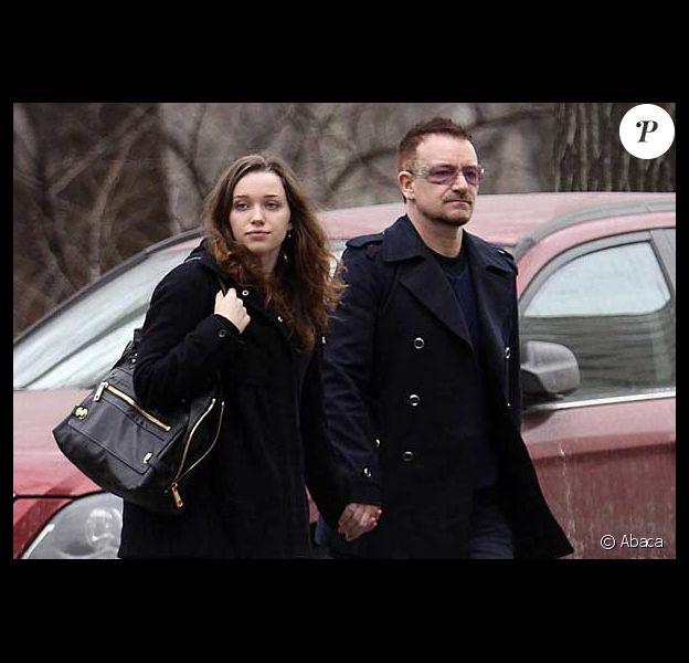 Bono et sa fille à New York. Mars 2009
