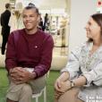"""Paul Van Haver (Stromae), son épouse Coralie Barbier et son frère Luc Junior Tam invités de """"19h le dimanche"""" présenté par Laurent Delahousse sur France 2, le 8 avril 2018."""