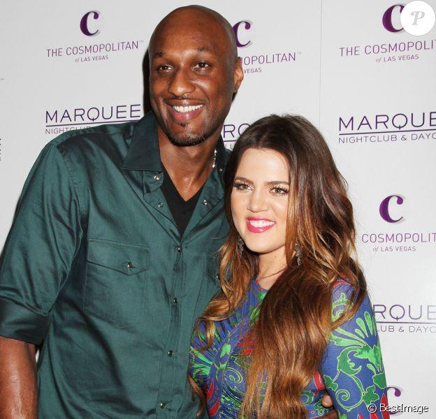 Lamar Odom et Khloé Kardashian lors d'une fête à Las Vegas en octobre 2010.