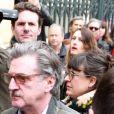 Daniel Auteuil avec sa femme - Les personnalités rendent hommage à Jacques Higelin au Cirque d'Hiver à Paris le 12 avril 2018.