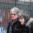Paul Personne et sa femme Gloria - Les personnalités rendent hommage à Jacques Higelin au Cirque d'Hiver à Paris le 12 avril 2018.