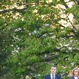 Le président de la République Emmanuel Macron et sa femme la première dame Brigitte Macron arrivent au palais de Chaillot, à Paris, France, le 15 avril 2018. Le président de la République est l'invité de BFMTV, RMC et Mediapart pour une grande interview en direct par lesjournalistes Jean-Jacques Bourdin, pour BFMTV et RMC, et Edwy Plenel, directeur de Mediapart. © Dominique Jacovides/Bestimage