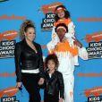 Mariah Carey et Nick Cannon et leurs enfants Morrocan et Monroe à Inglewood, le 24 mars 2018.