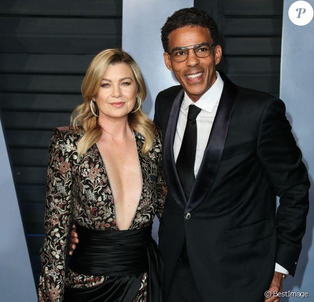 Ellen Pompeo et son mari Chris Ivery à la soirée Vanity Fair Oscar au Wallis Annenberg Center à Beverly Hills, le 4 mars 2018.